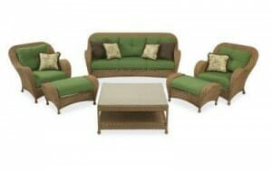 patio couch set hampton bay chateau  pc seating set